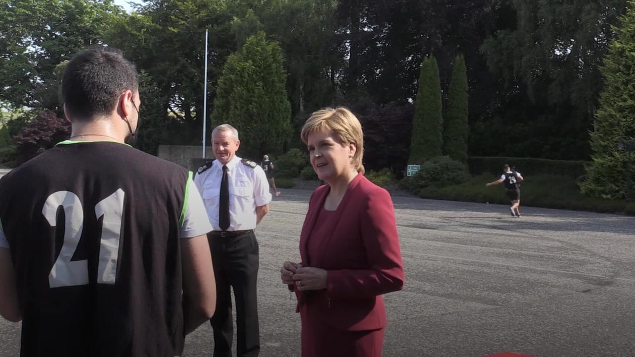 Nicola Sturgeon visits new Police Scotland training academy