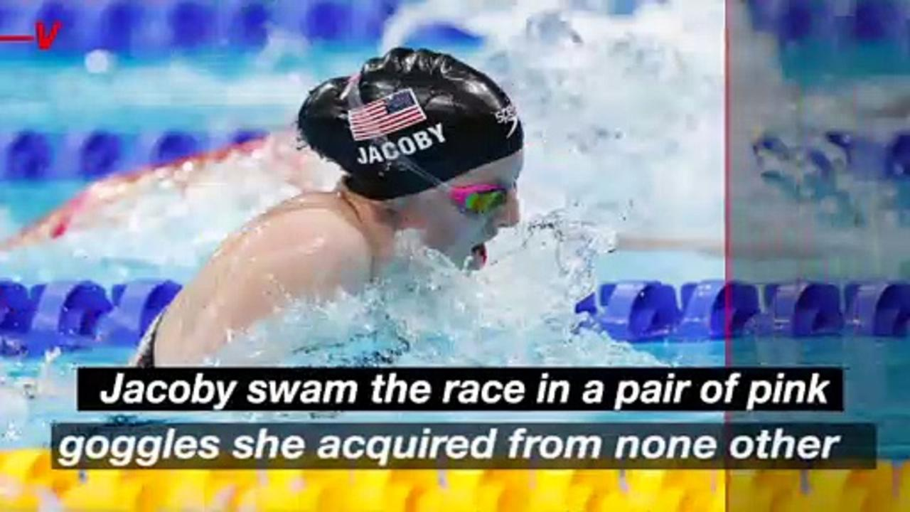 Lydia Jacoby Takes Home Gold in Women's 100m Breaststroke Wearing Her Childhood Pink Goggles