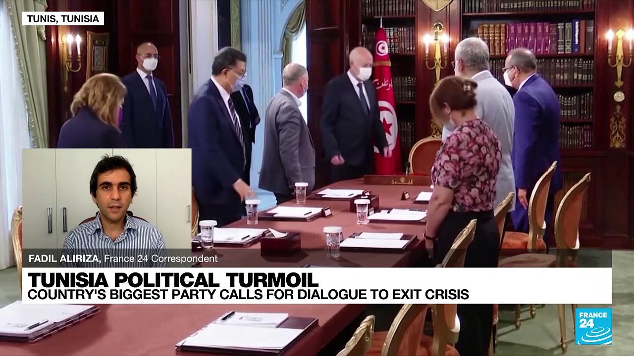 Tunisian Islamist party calls for dialogue to resolve crisis