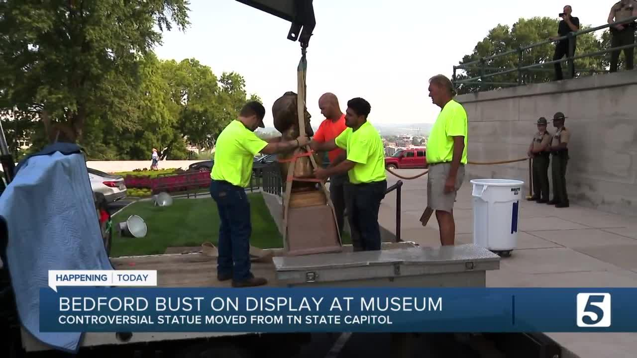 Nathan Bedford Forrest bust to go on display at state museum starting today