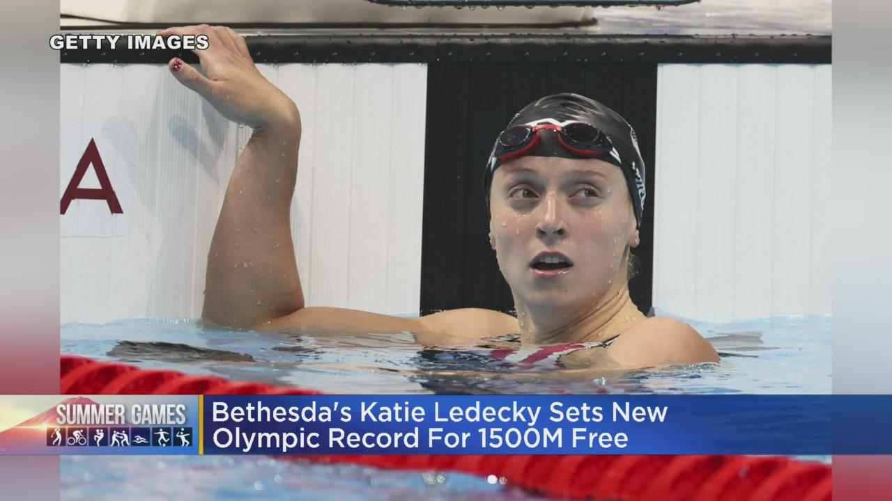 Bethesda's Katie Ledecky Sets New Olympic Record For 1500M Free