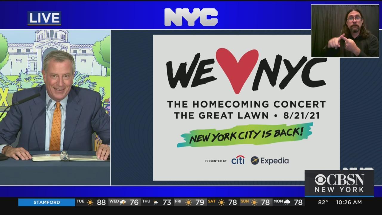 Mayor De Blasio On COVID Recovery In NYC