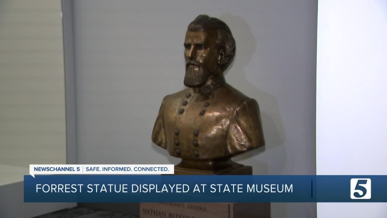 Nathan Bedford Forrest bust now on display at state museum