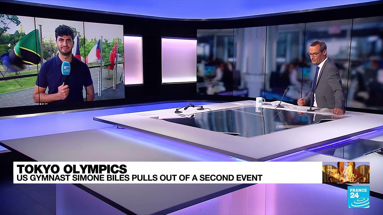 US gymnast Simone Biles withdraws from Olympics all-around gymnastics