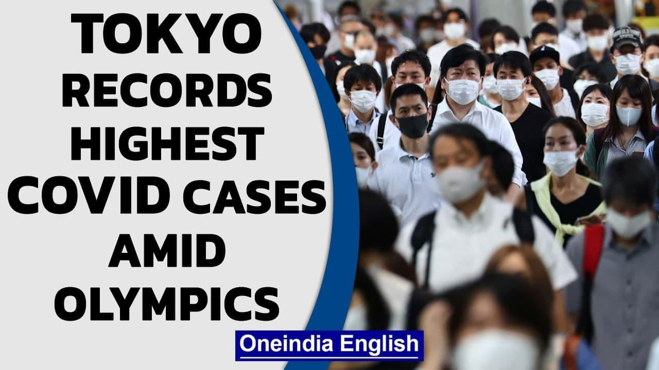 Tokyo records 3,177 Covid cases, highest since pandemic began, amid the Olympics   Oneindia News