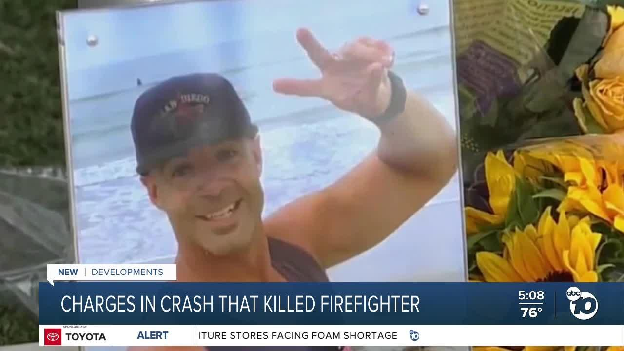 Firefighter faces charges in crash that killed fellow firefighter
