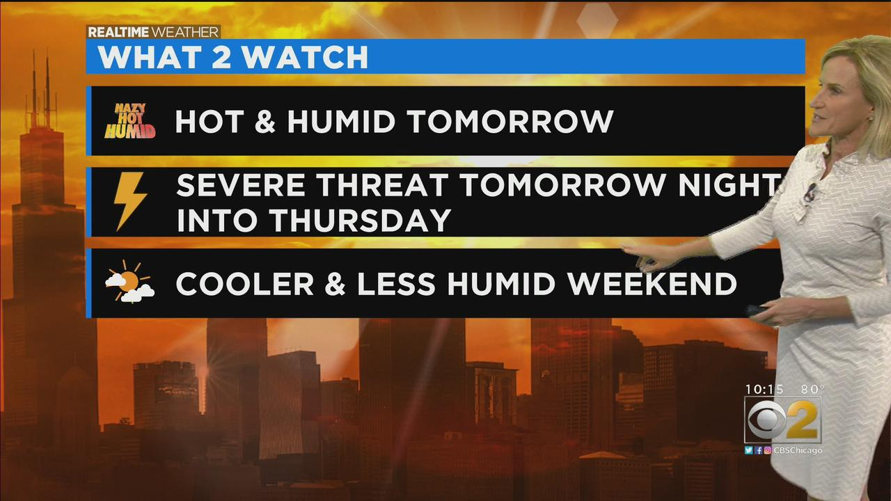 Chicago Weather: Severe Storm Threat Wednesday Night Into Thursday