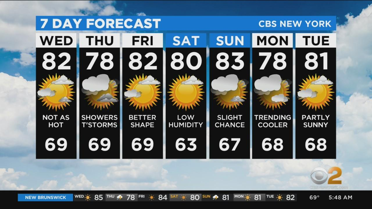 New York Weather: 7/28 Wednesday Morning CBS2 Weather Headlines