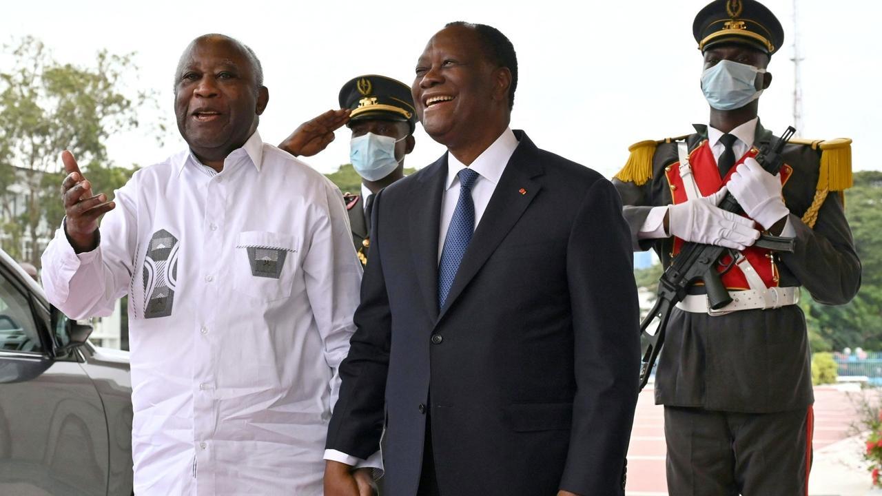 Ivory Coast leader Ouattara meets rival, says crisis 'behind us'
