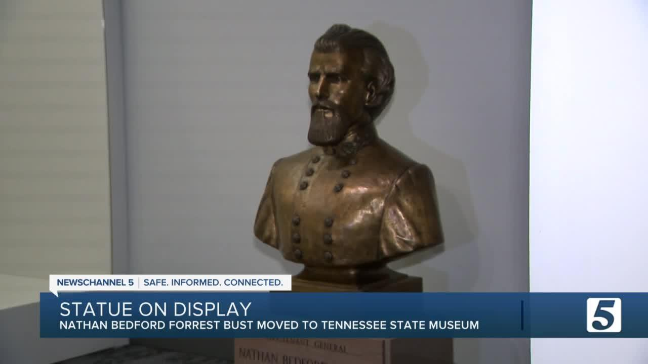 Nathan Bedford Forrest bust is now on display at state museum