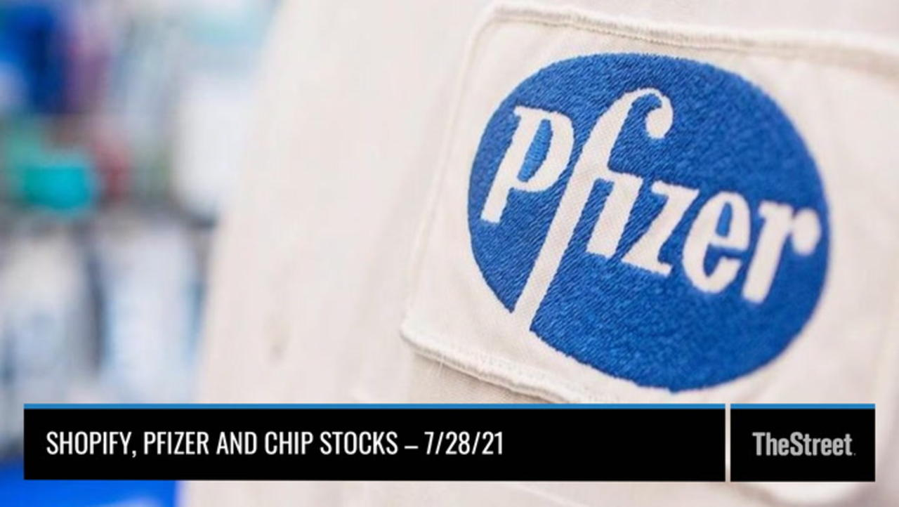 Shopify, Pfizer and Chip Stocks – On TheStreet Wednesday