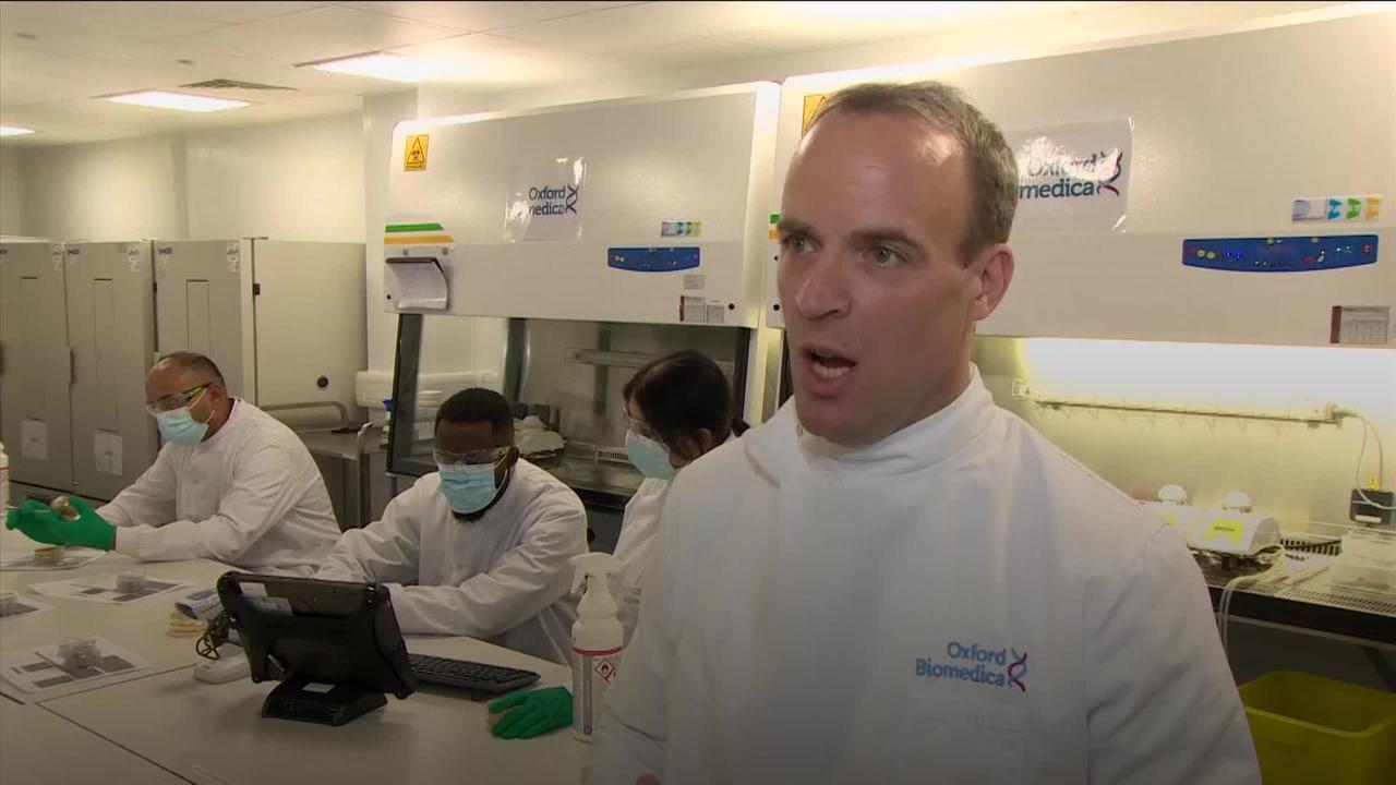 Raab: UK wants world vaccinated by 2022