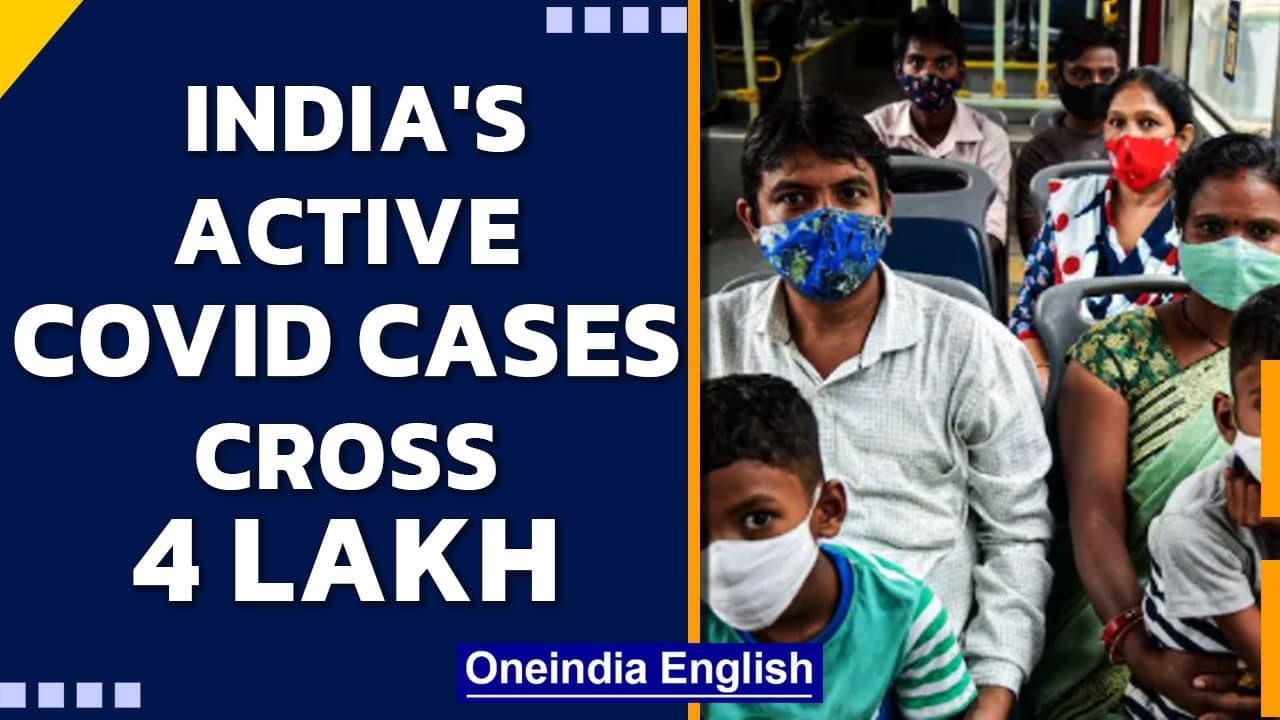 India's active Covid caseload crosses 4 lakh, Kerala biggest contributer   Oneindia News