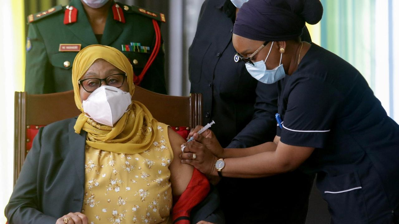 Tanzania's Hassan gets COVID jab, kicks off vaccination drive