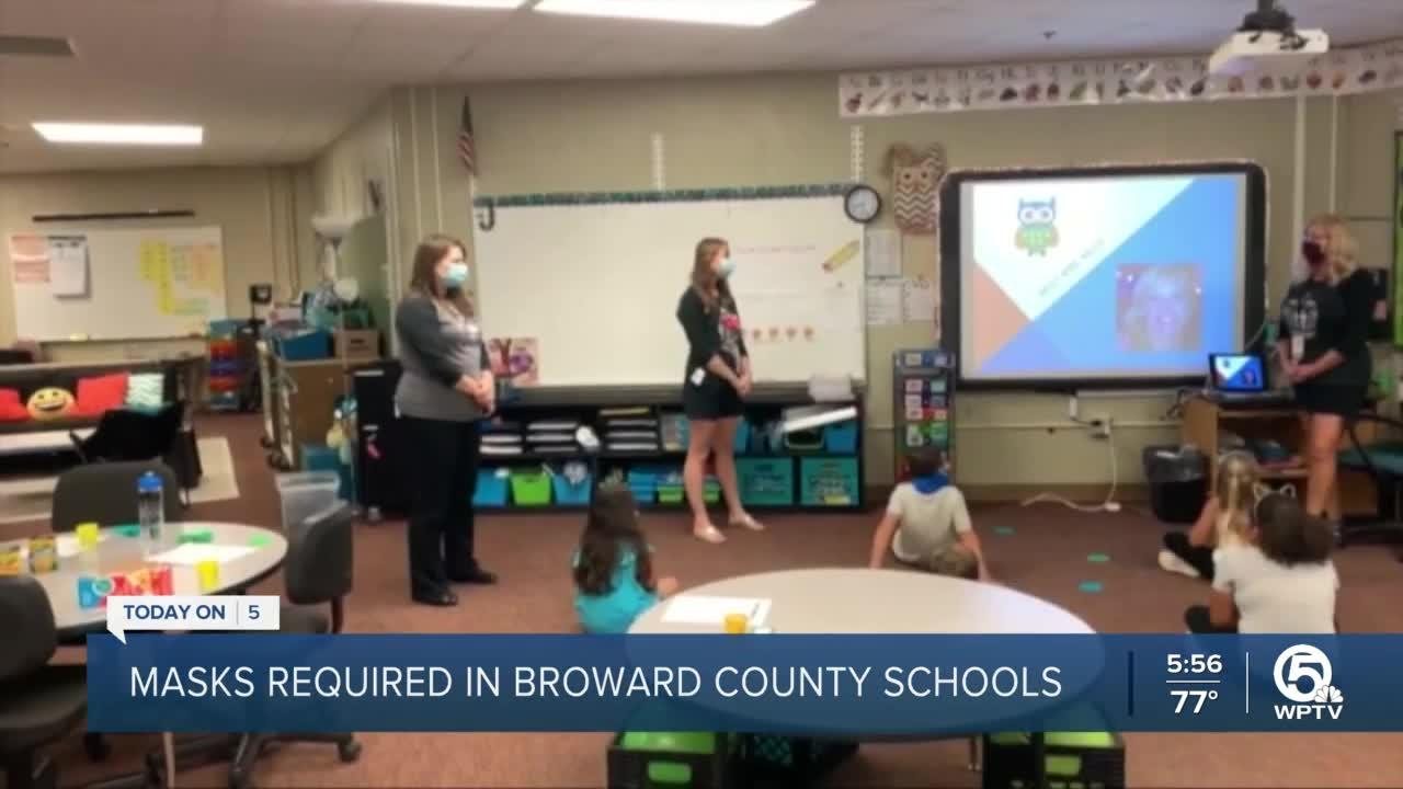Broward County School District votes to continue requiring face masks in school