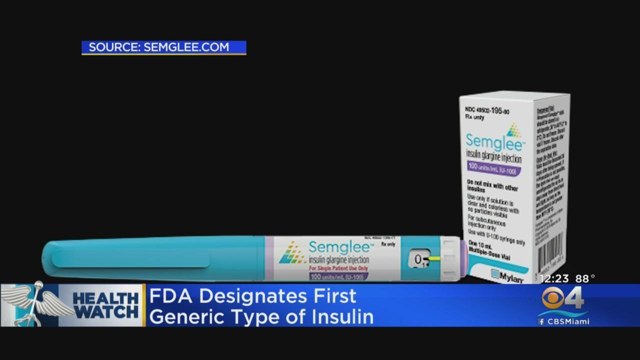 Generic Insulin Designated