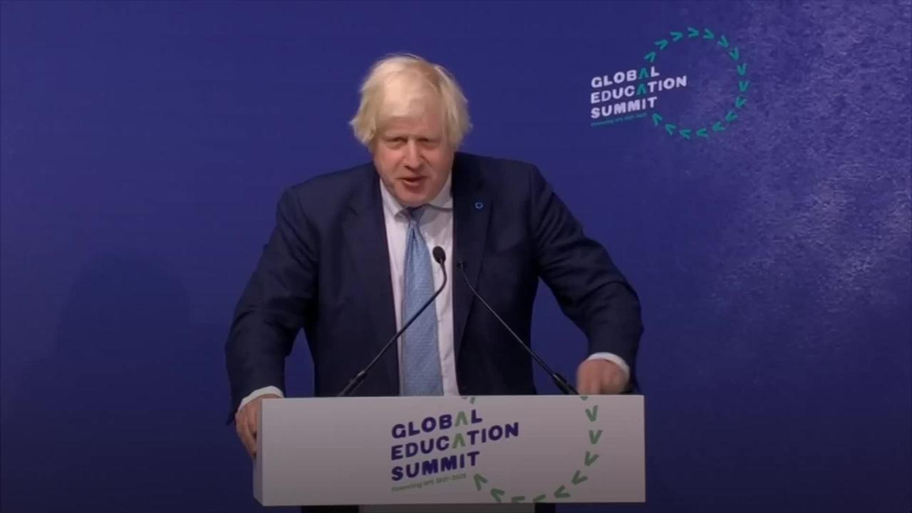 Boris Johnson 'proud' of UK contribution to global education despite pandemic