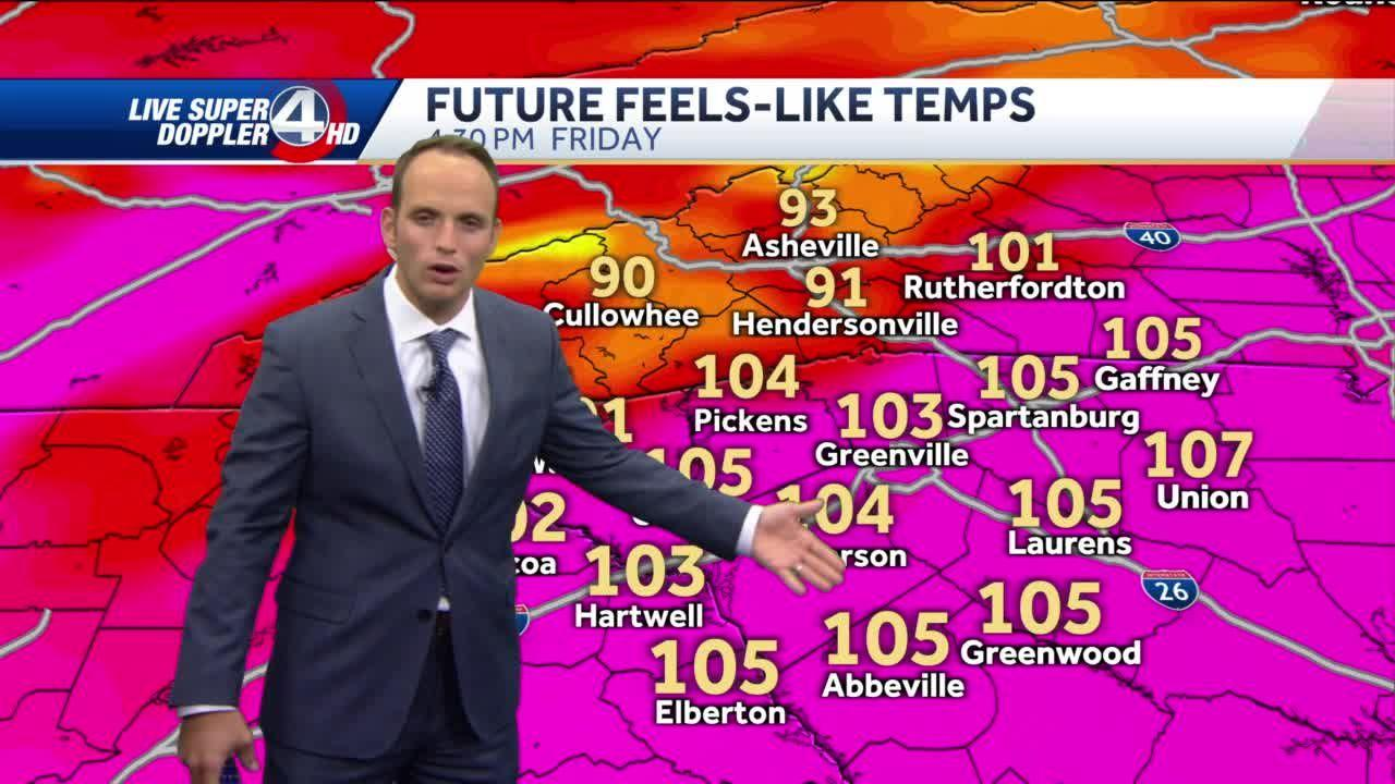 Intense heat continues, cooldown ahead