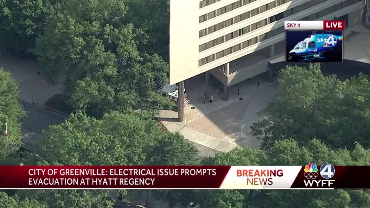 5:30 p.m. update on fire crews called to downtown Greenville hotel