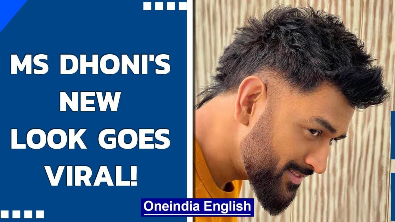 MS Dhoni's new super-look in funky haircut and razor-sharp beard goes viral | Oneindia News