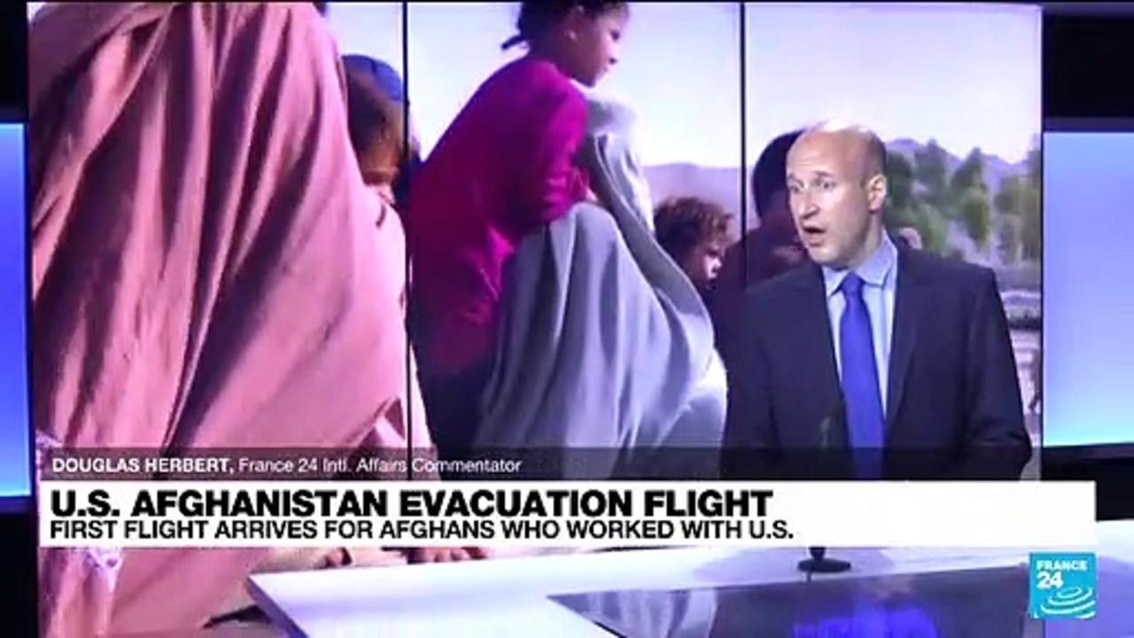 First flight of Afghan interpreters fleeing Taliban arrives in US