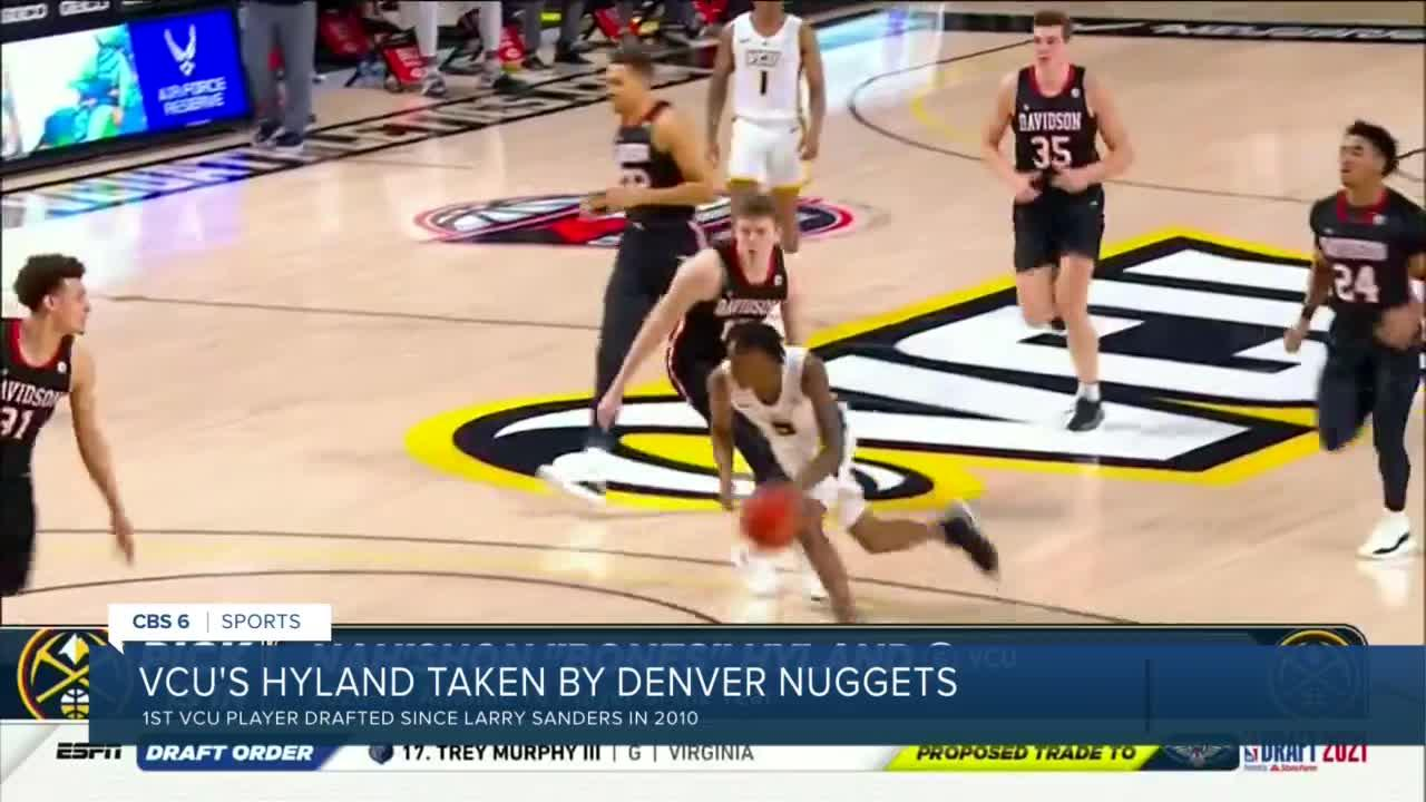 VCU's Nah'Shon 'Bones' Hyland drafted to Denver Nuggets in first round of NBA draft