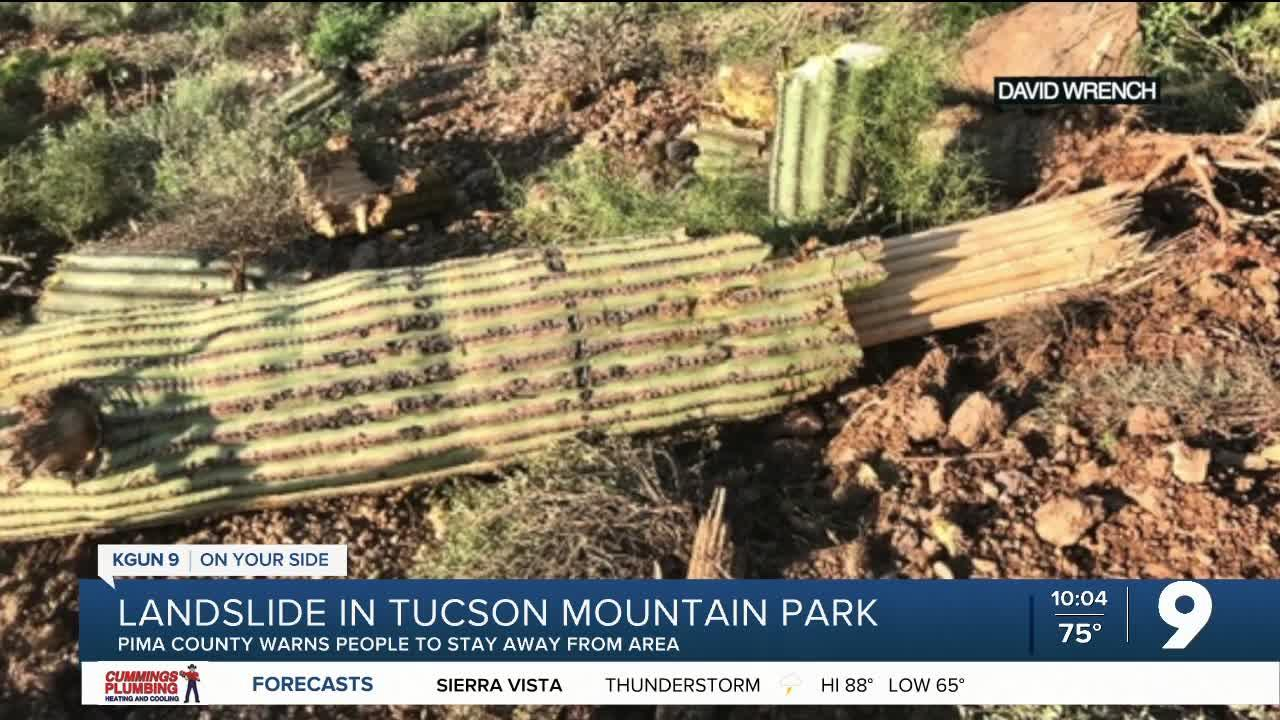 County warns hikers to stay away from Tucson Mountain Park landslide