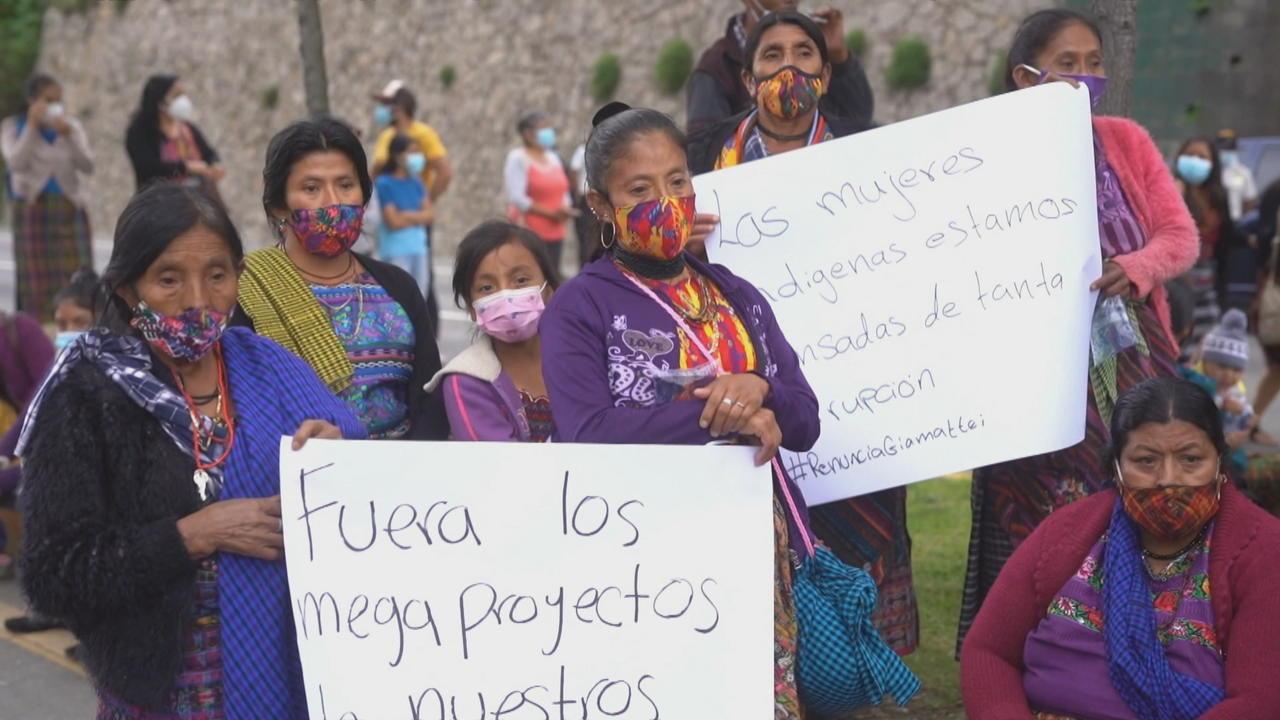 Guatemalan protesters demand resignation of President Giammattei