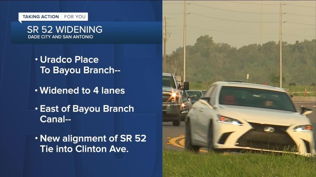 FDOT widening State Road 52 in Dade City; adding new safety changes