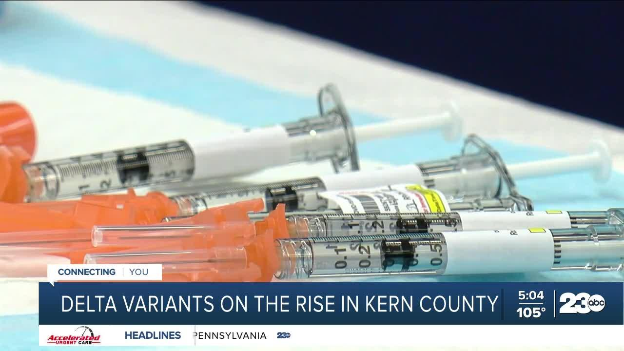 Delta variants on the rise in Kern County