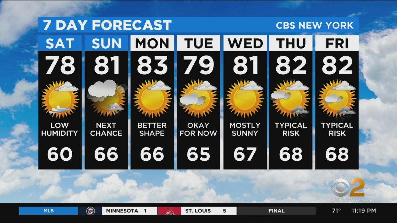 New York Weather: CBS2 7/30 Nightly Forecast at 11PM