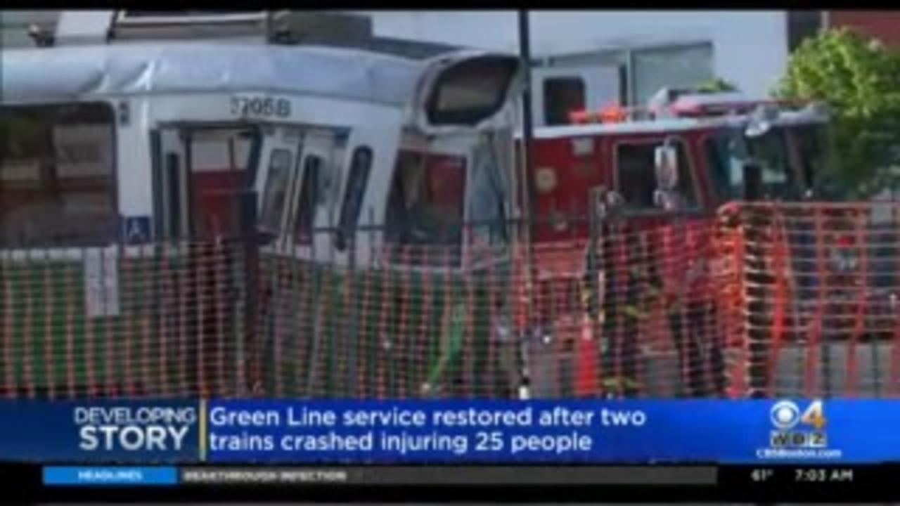 Green Line Service Resumes Hours After Crash Hospitalizes 23 People