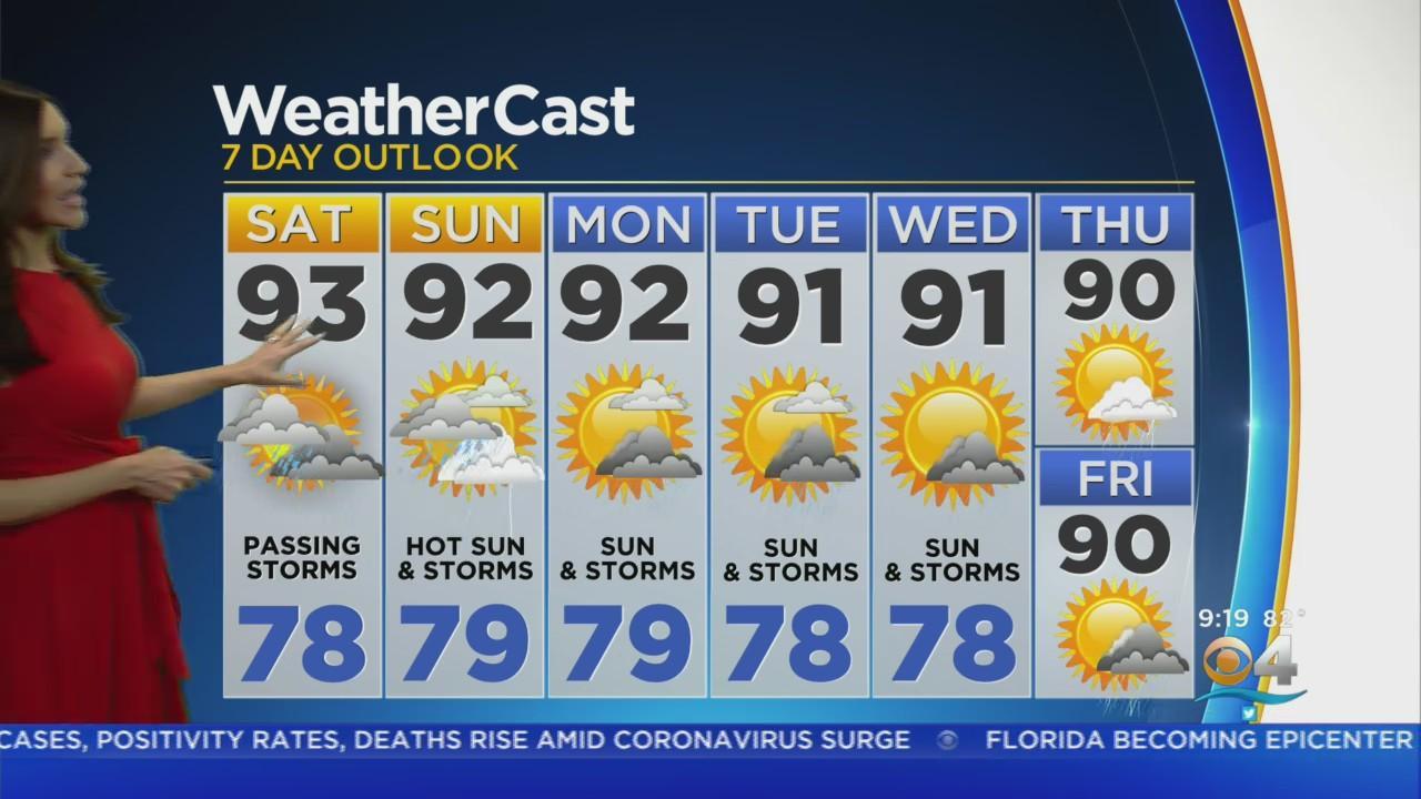 CBSMiami.com Weather @ Your Desk 7-31-21 10AM
