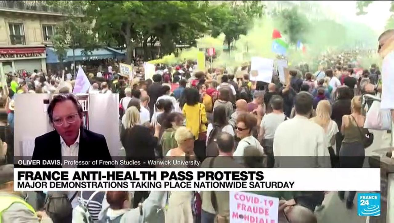 France anti-health pass protests: major demonstrations taking place nationwide saturday
