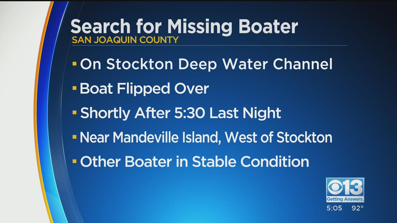 Woman Missing Following Boating Accident In San Joaquin County