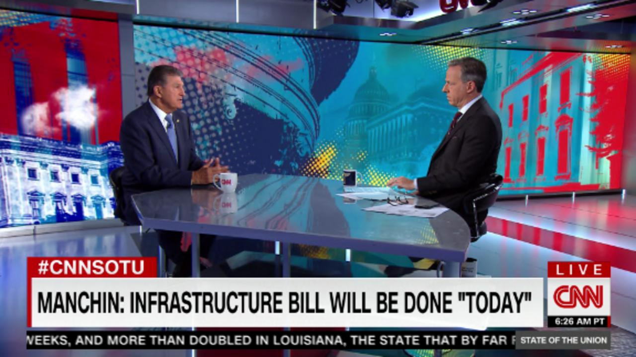 Manchin: Infrastructure should pass on Thursday