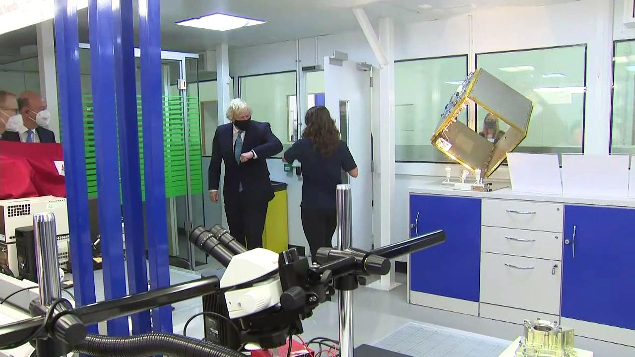 Boris Johnson gets to grips with space tech in Stevenage