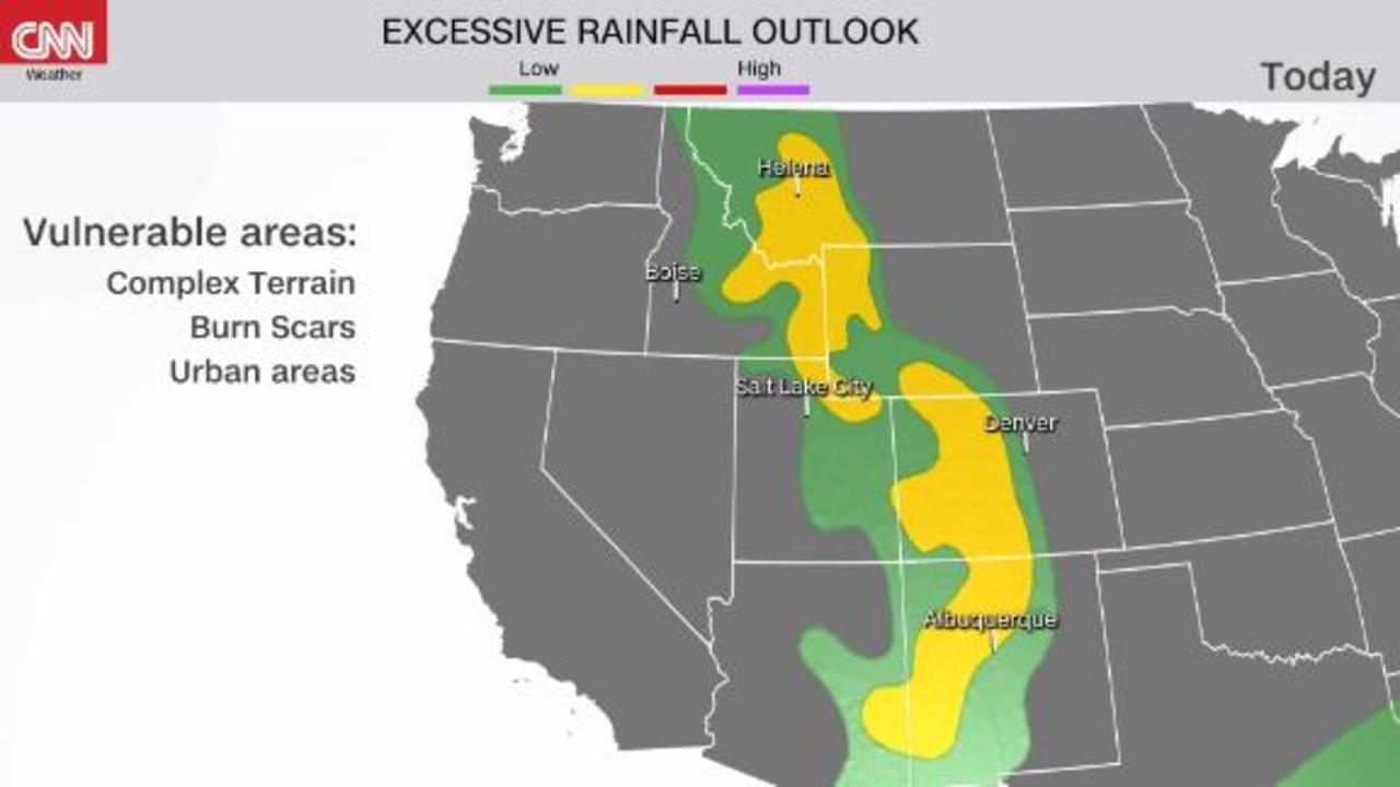 Flash flood threat for 6 states in the West