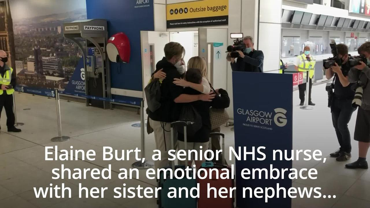 Nurse reunited with family arriving from US as quarantine-free travel begins