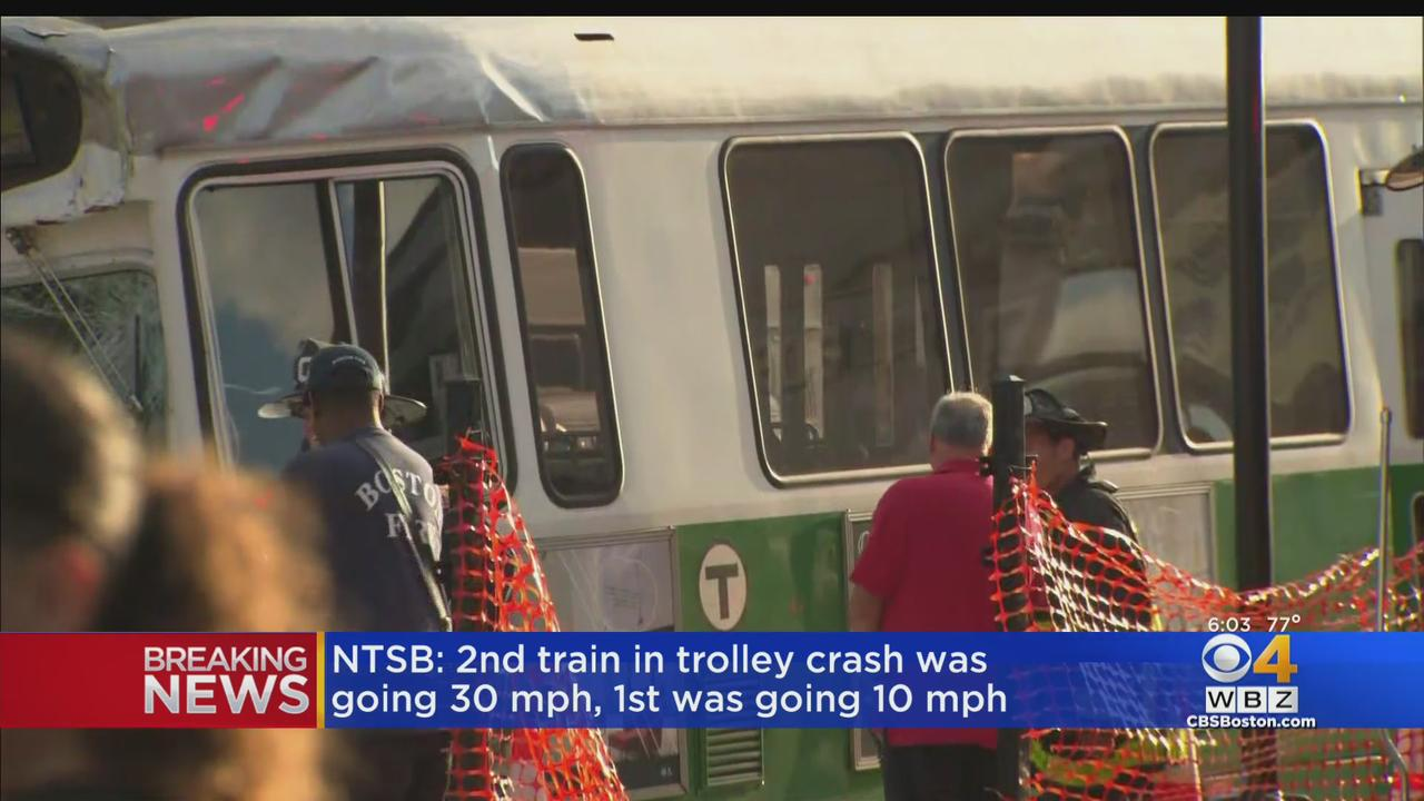 NTSB: Rear Green Line Train Was Going 30 MPH At Time Of Crash