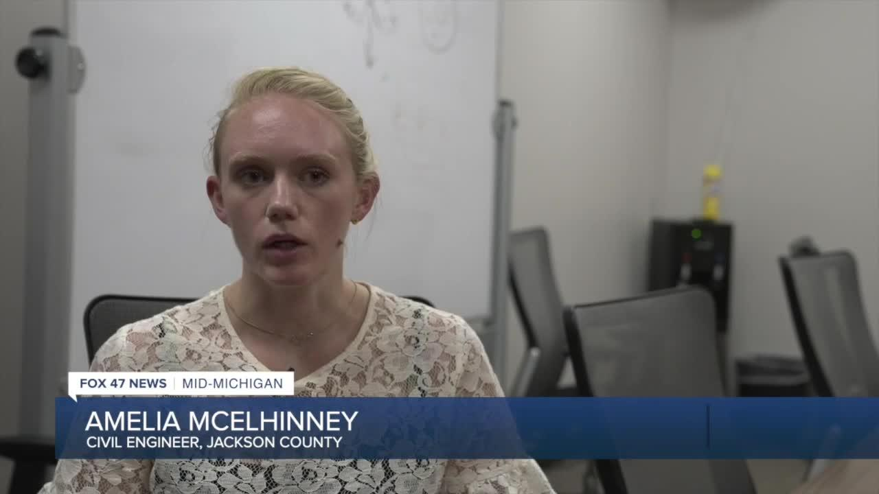 Civil Engineer Amelia McElhinney says they're still in the data-gathering process.