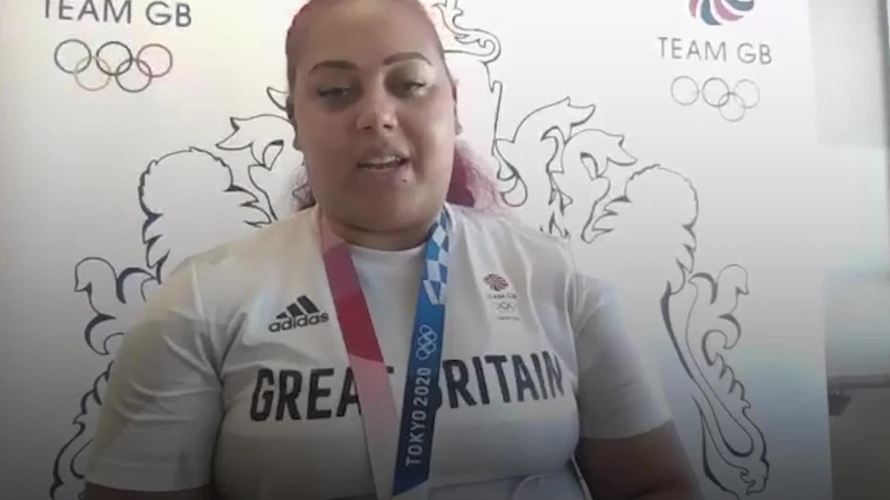 Emily Campbell delighted with historic weightlifting silver medal