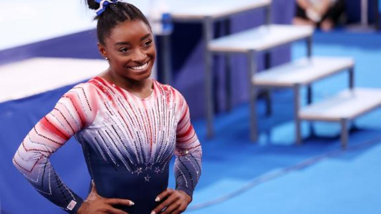 Simone Biles takes bronze medal in balance beam competition