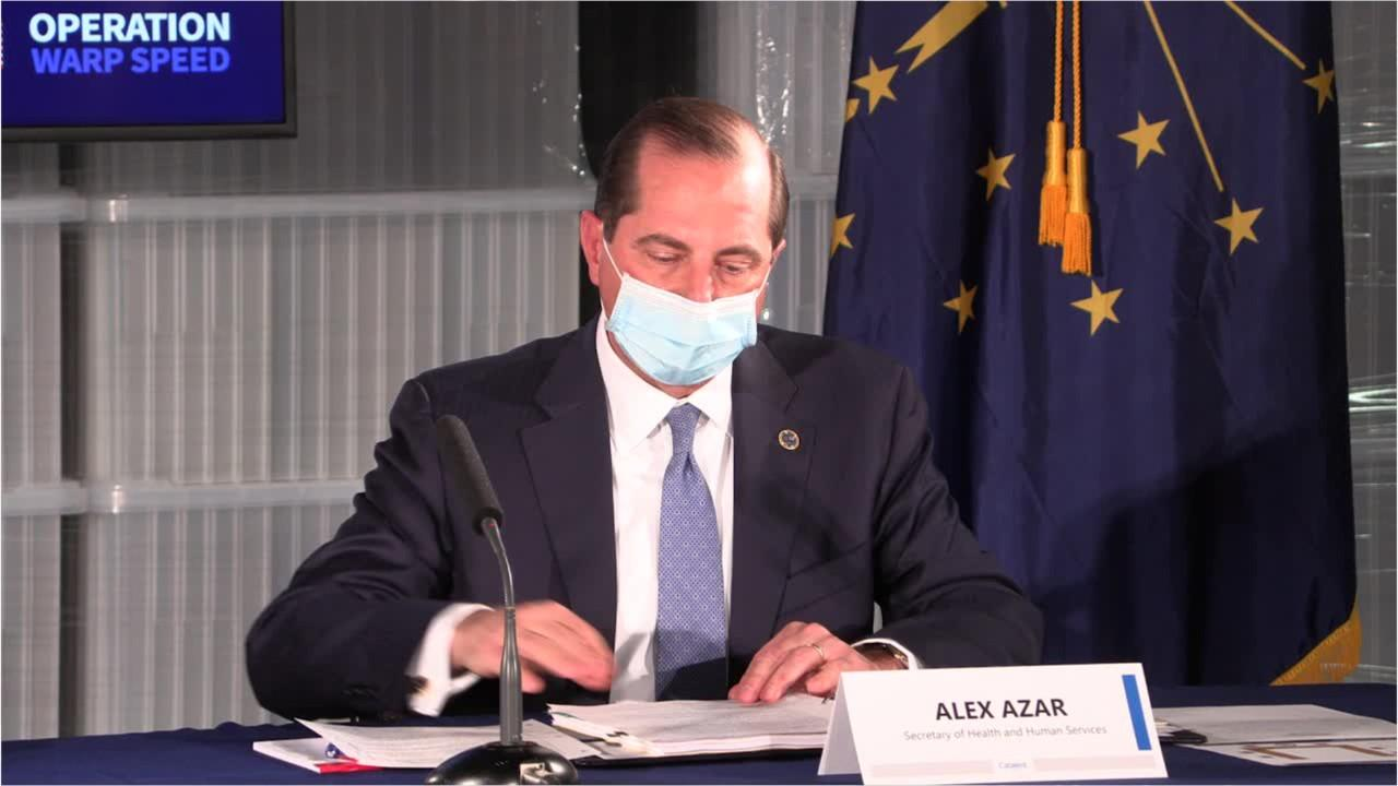 Alex Azar calls on Biden to give credit to Trump to 'depoliticize the issue for vaccines