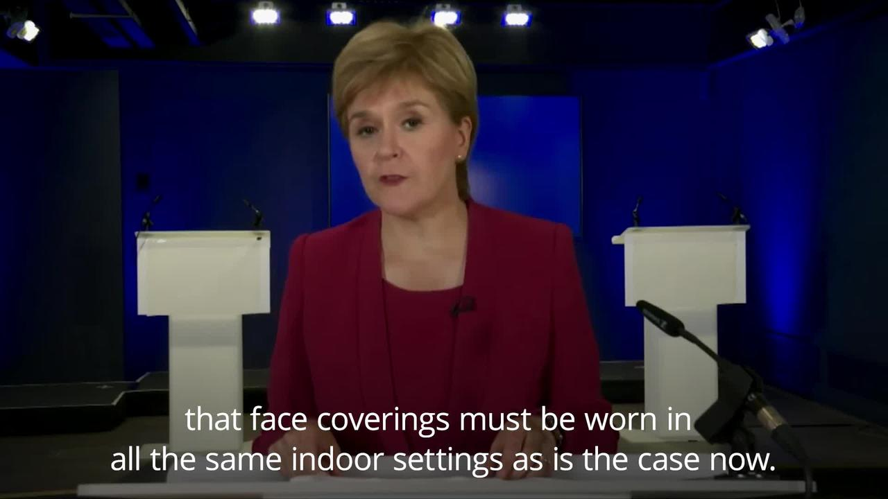 Scotland to end most Covid restrictions but face masks stay in some settings