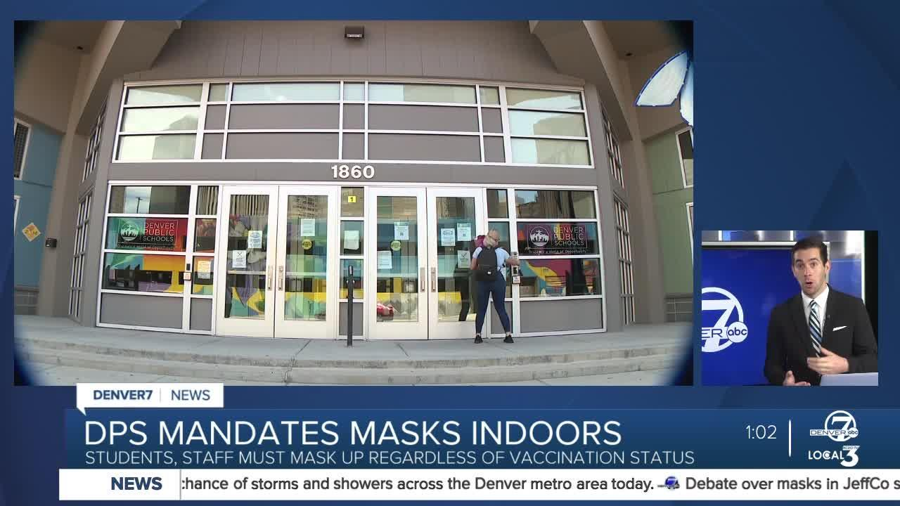 Denver Public Schools to require masks for students, staff, visitors to start school year