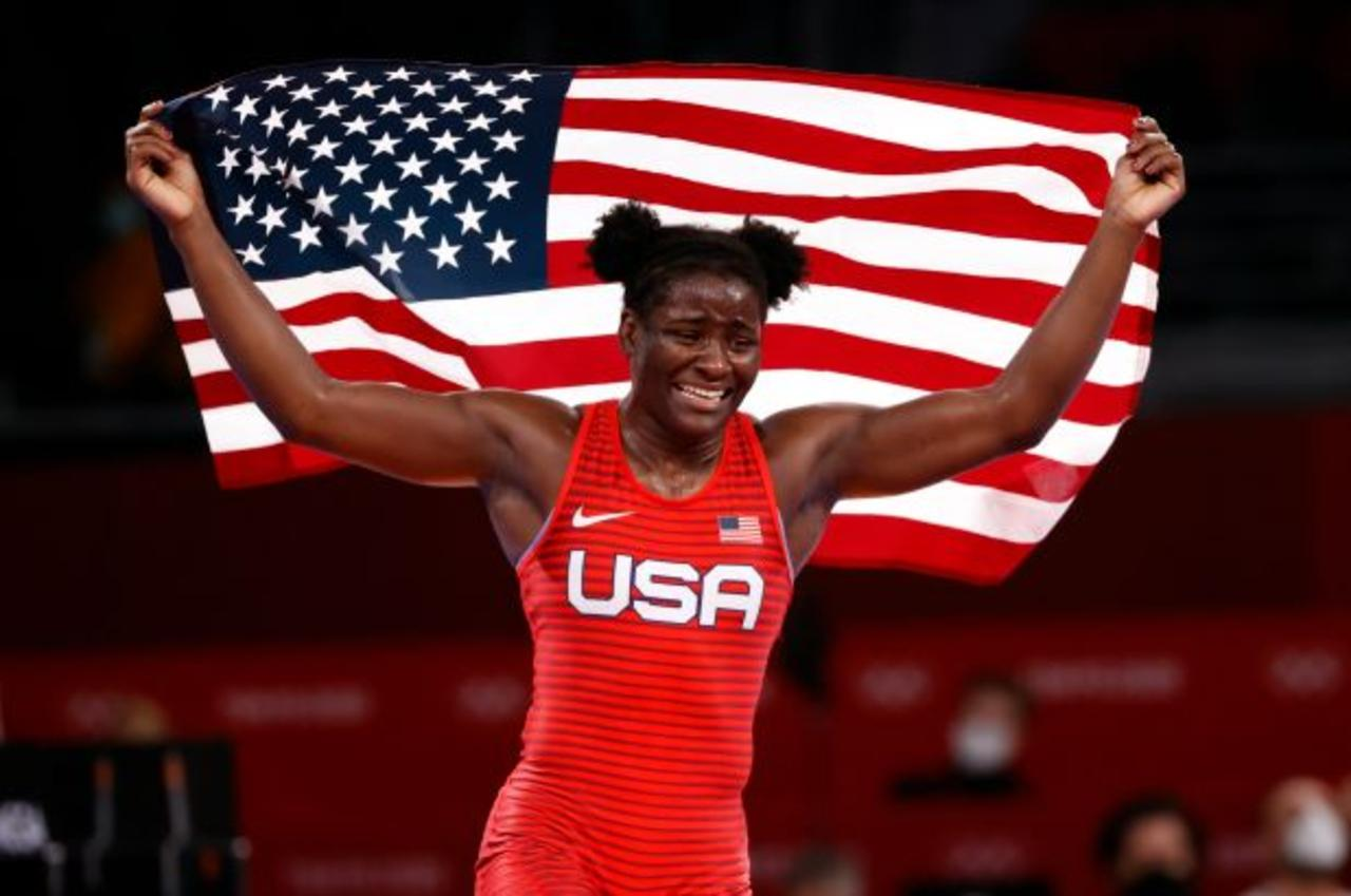 Tamyra Mensah-Stock Is the First Black Woman To Win Olympic Gold in Wrestling