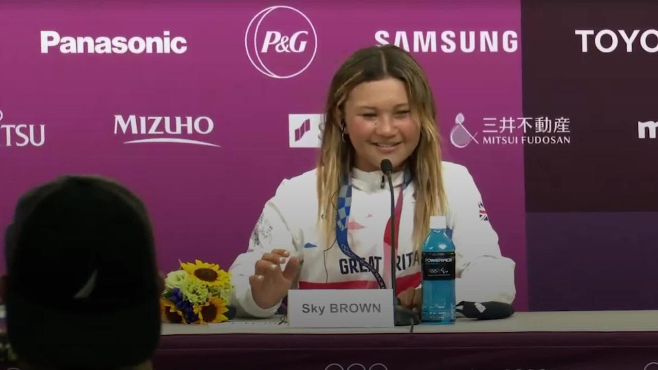 Sky Brown 'so happy' to win bronze and become Team GB's youngest Olympic medallist