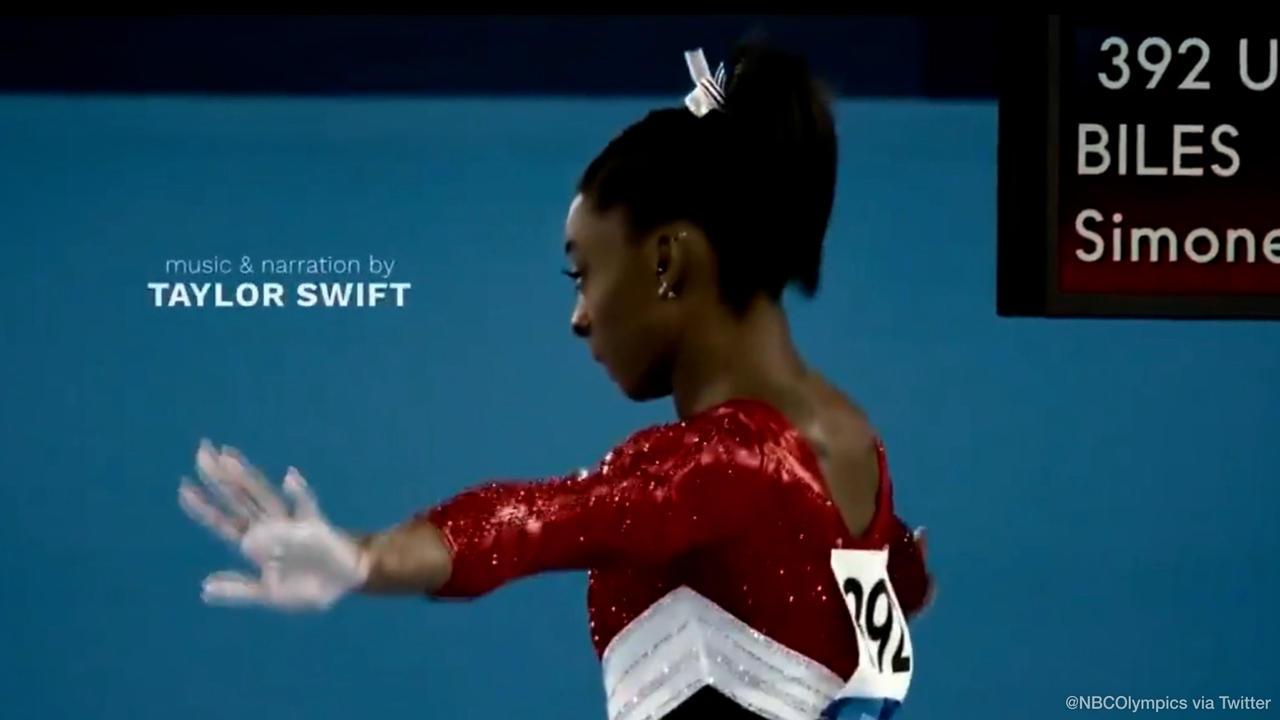 Taylor Swift praises Simone Biles in new Olympic promo