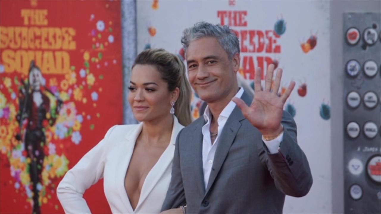 Rita Ora and Taika Waititi go public with romance at The Suicide Squad premiere